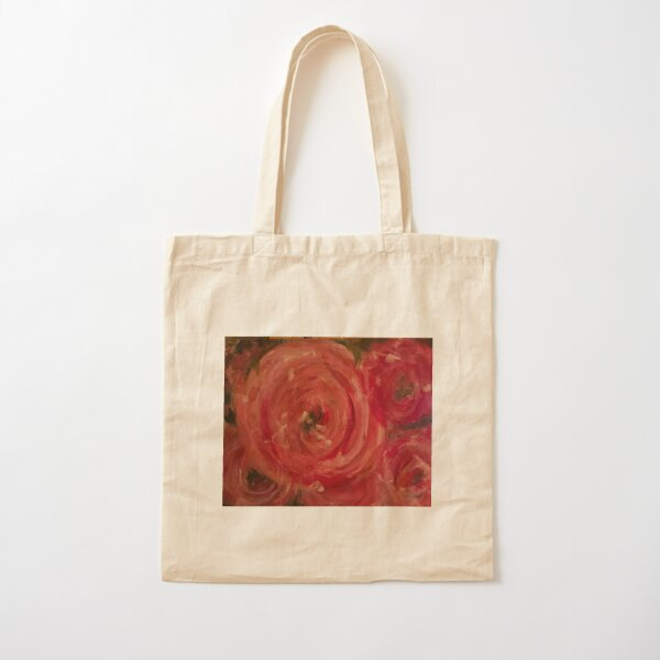 Cabbage Roses Cotton Tote Bag