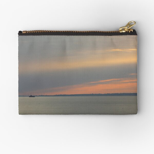 Sunset over the sea Zipper Pouch