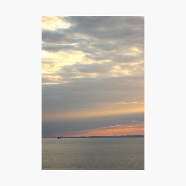 Sunset over the sea Photographic Print
