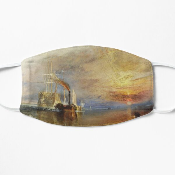 TURNER. The Fighting Temeraire, 1839, by Joseph Mallord William Turner. On White. Flat Mask