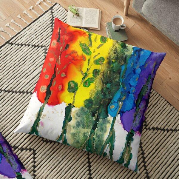 Rainbow Trees Floor Pillow