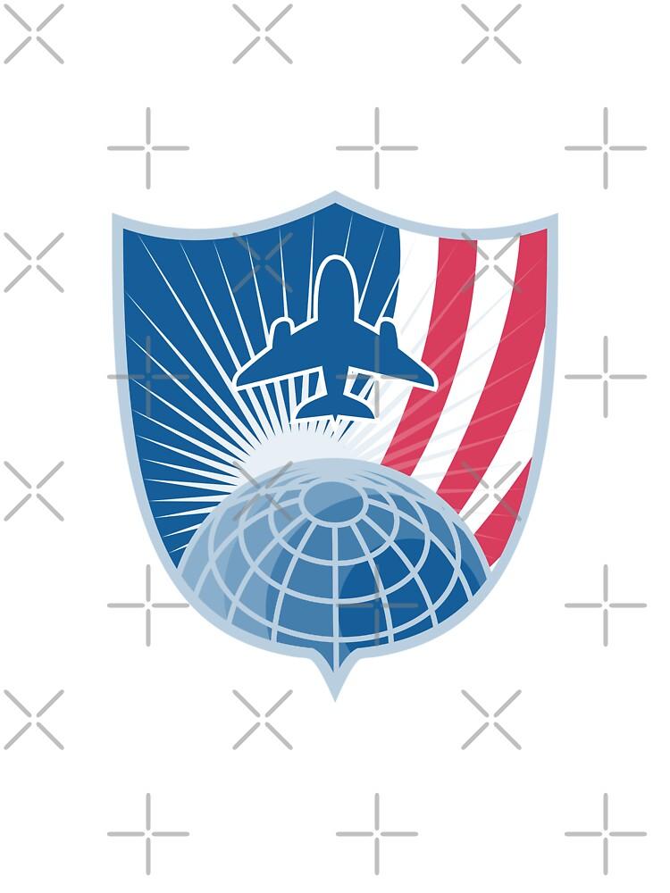 Airplane Jet Plane World Shield by patrimonio