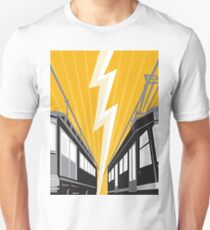 Vintage and Modern Streetcar Tram Train Unisex T-Shirt