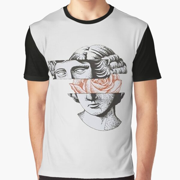 Greek Statue With Flower Mind Graphic T-Shirt