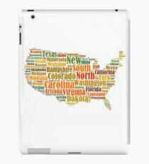t-shirts map united states, states white iPad Case/Skin