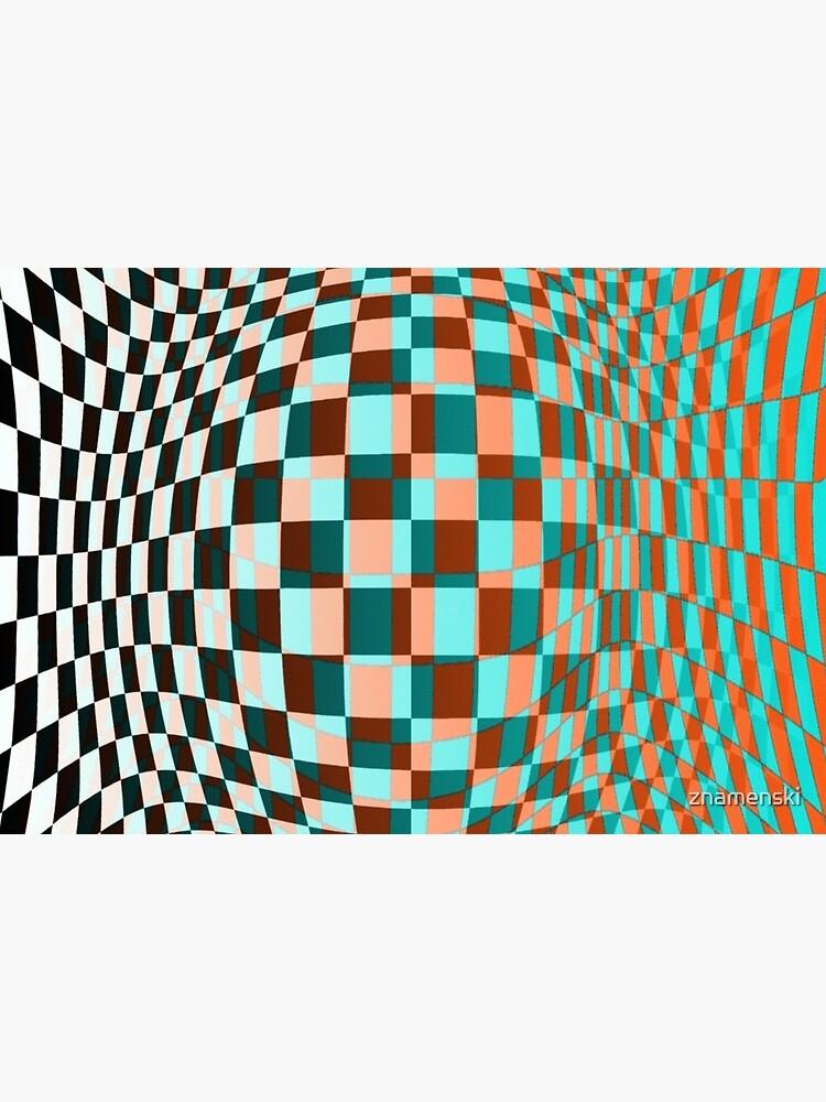 #Optical #Checker #Illusion #Pattern, design, chess, abstract, grid, square, checkerboard, illusion by znamenski