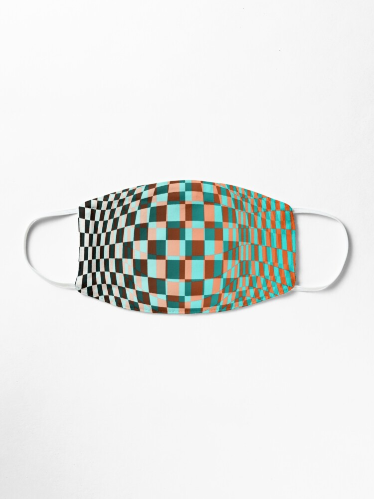 Alternate view of #Optical #Checker #Illusion #Pattern, design, chess, abstract, grid, square, checkerboard, illusion Mask