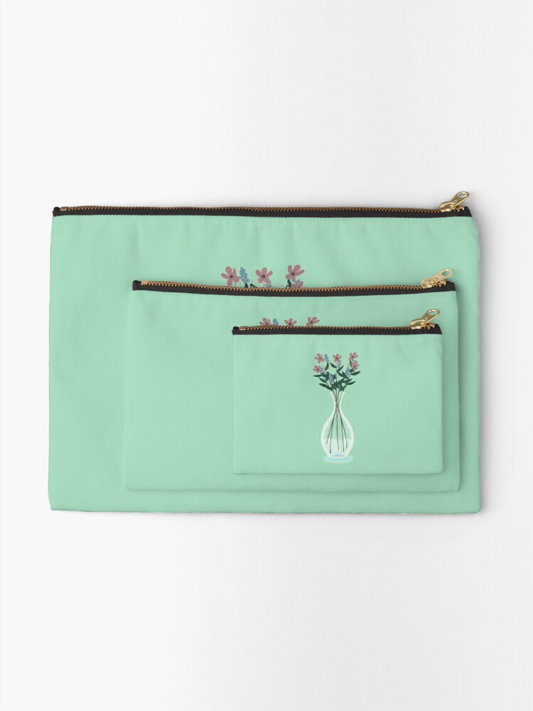 Alternate view of Spring Vase Zipper Pouch