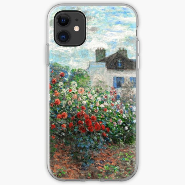 Claude Monet Artist's Garden Argenteuil Fine Art iPhone Soft Case