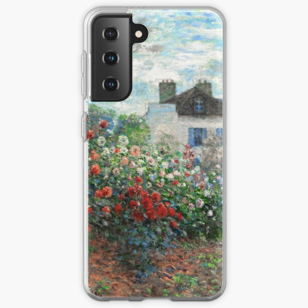 Claude Monet Artist's Garden Argenteuil Fine Art Samsung Galaxy Soft Case