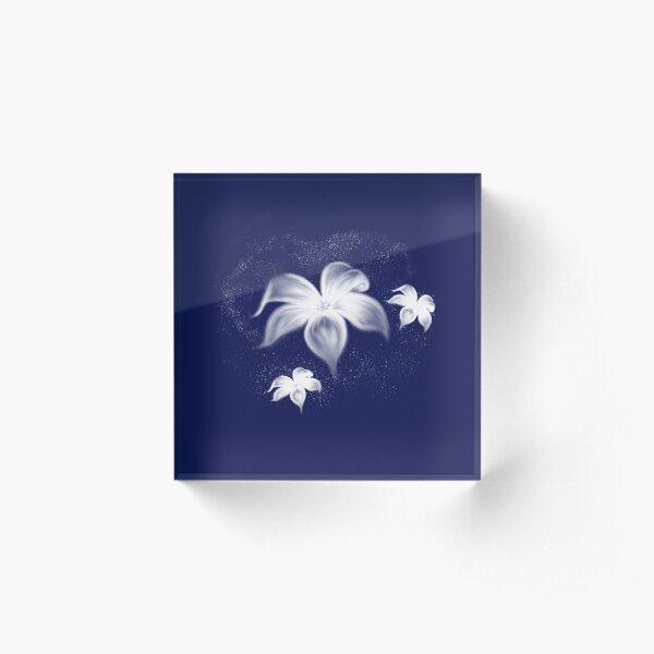 Moon Flowers Acrylic Block