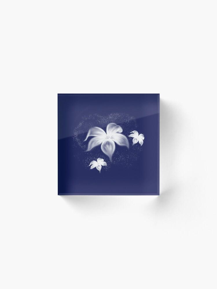 Alternate view of Moon Flowers Acrylic Block