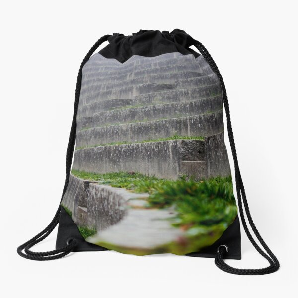 Stone Amphitheater Overgrown with Grass Drawstring Bag