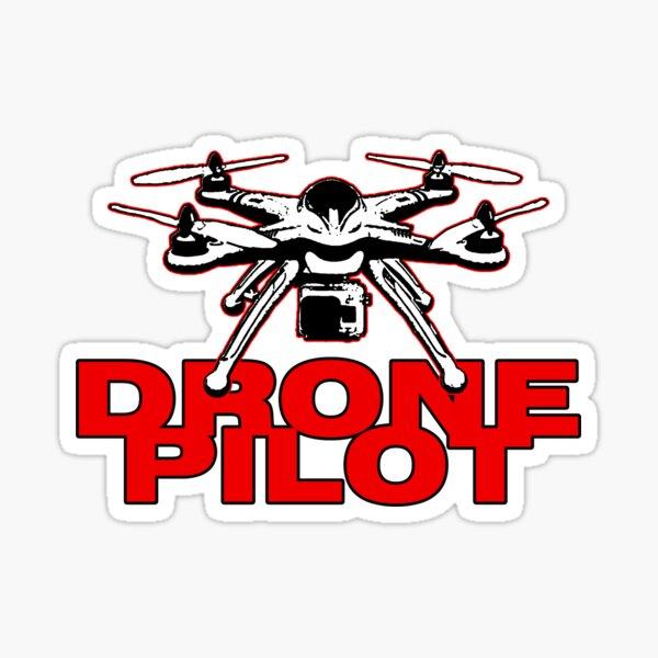 Diseño de piloto de drones Pegatina