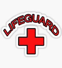 Red Lifeguard Clothing Tee Sticker