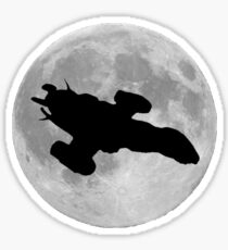 Serenity against the moon Sticker