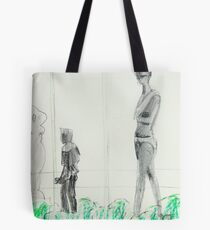 in the gallery courtyard... Tote Bag