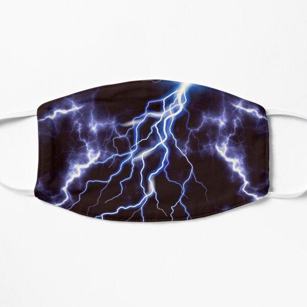 Blue Thunder Colorful Lightning graphic Flat Mask