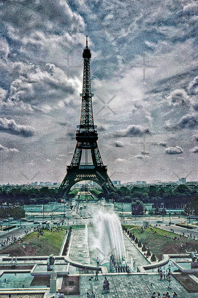 Eiffel Tower on a cloudy day in 1983 by haymelter