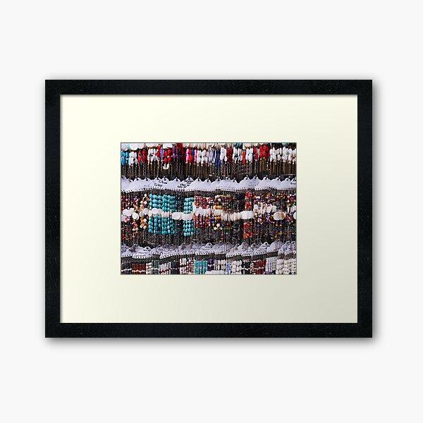 A multitude of bracelets Framed Art Print