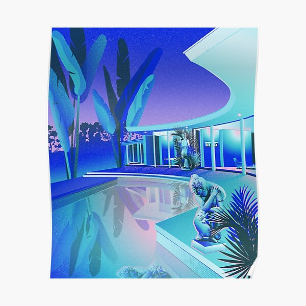 Blue Pool Poster