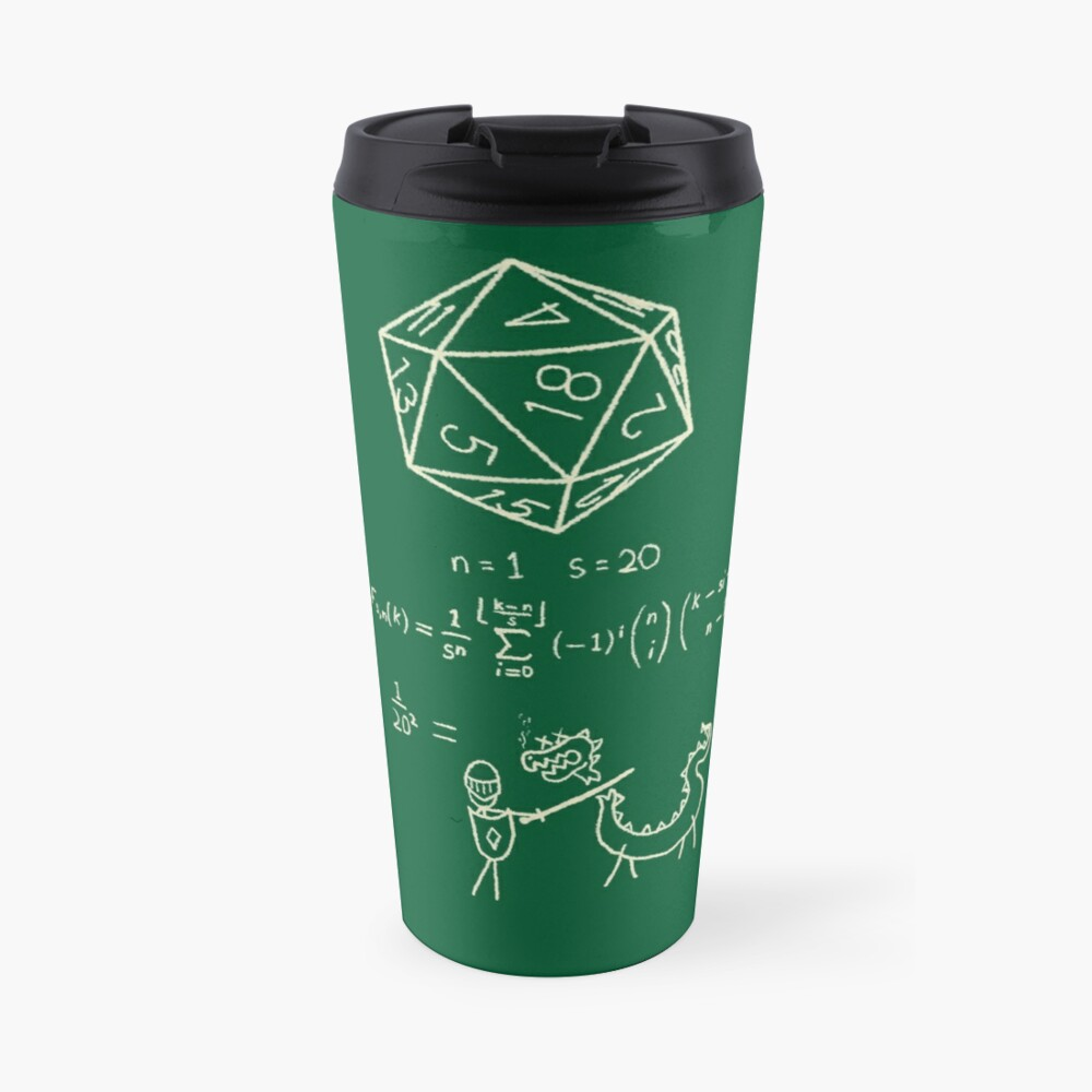 The science of 20 sided dice. Travel Mug