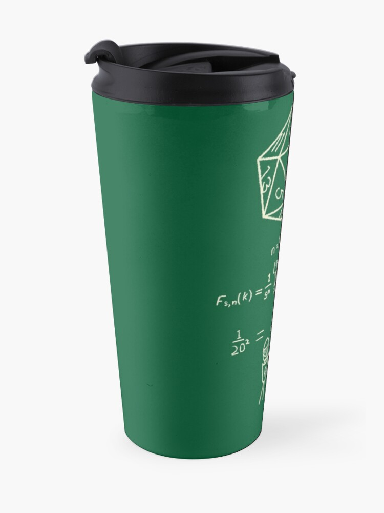 Alternate view of The science of 20 sided dice. Travel Mug