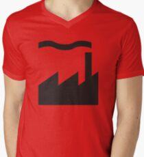 Camiseta para hombre de cuello en v Registros de fábrica