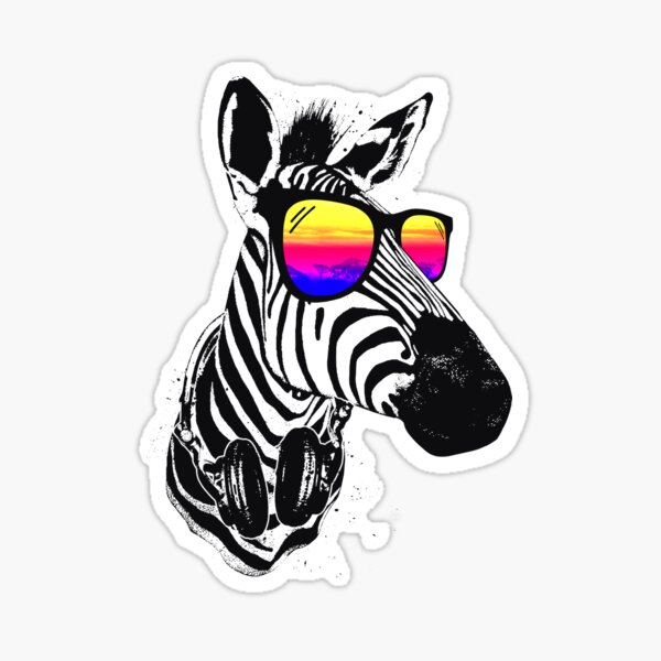 Cool Zebra Sticker