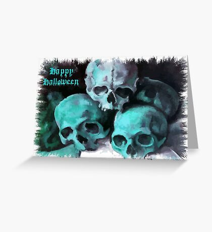 Happy Halloween Pile of Skulls After Cezanne Greeting Card