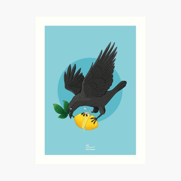 Lemon crow Art Print