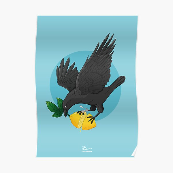 Lemon crow Poster