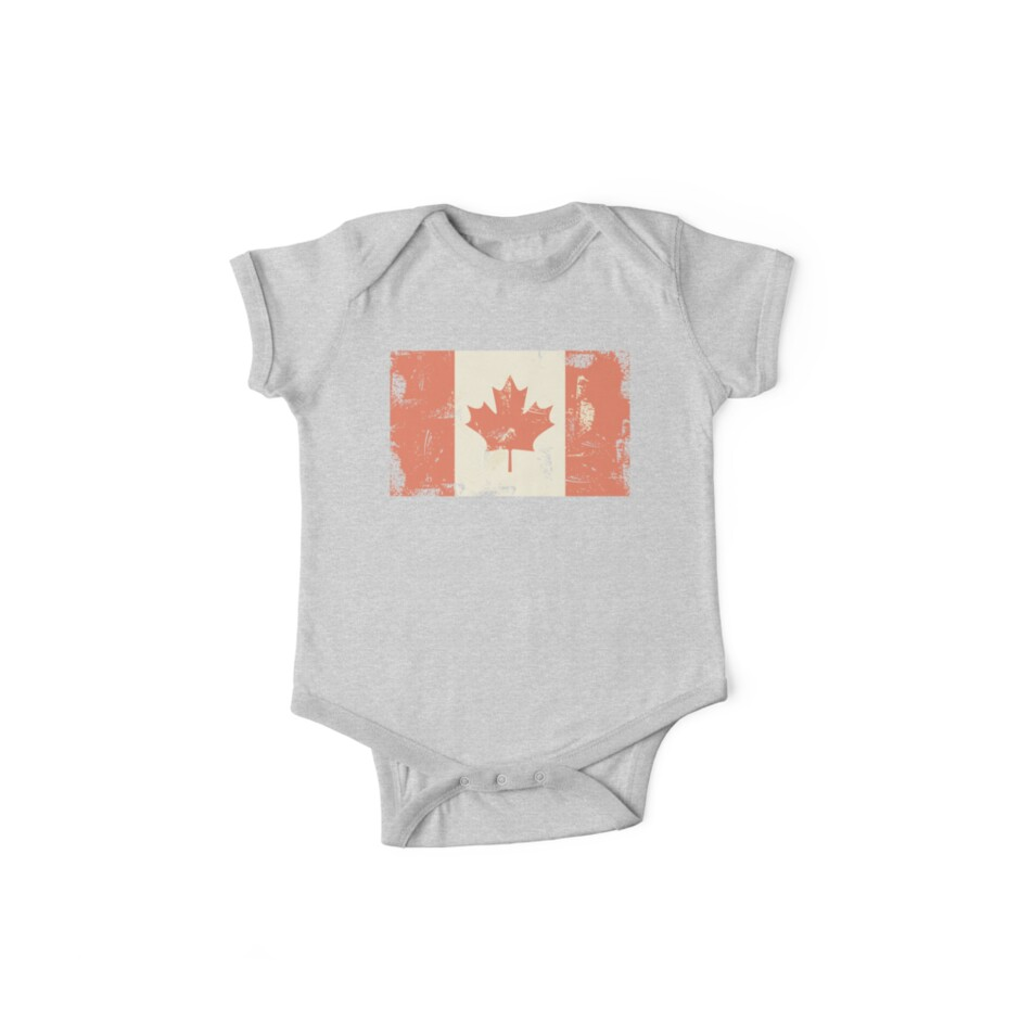 Grungy Canadian Flag by Anastasiia Kucherenko