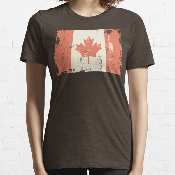 Grungy Canadian Flag Essential T-Shirt
