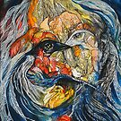 Seven birds. Inside self portrait  (full) by Tatjana Larina