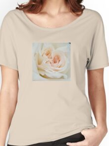 Close Up View Of A Romantic White Wedding Rose Women's Relaxed Fit T-Shirt