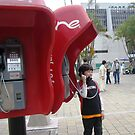 Calling....calling.........using the public telephones by Esperanza Gallego