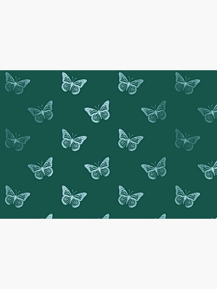 Minimalist Monarch Butterflies in Teal Turquoise Green by RootSquare