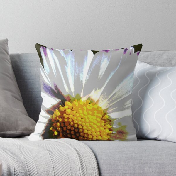 Do not crush the daisy! Throw Pillow