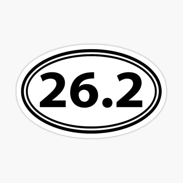 Runner Gifts for Men & Women - 26.2 Marathon Runner Sticker Oval Decal Gifts - 26 2 Gift Ideas for Runners Who Love Running Marathons & Jogging Sticker