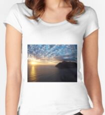Hout Bay Sunset Women's Fitted Scoop T-Shirt