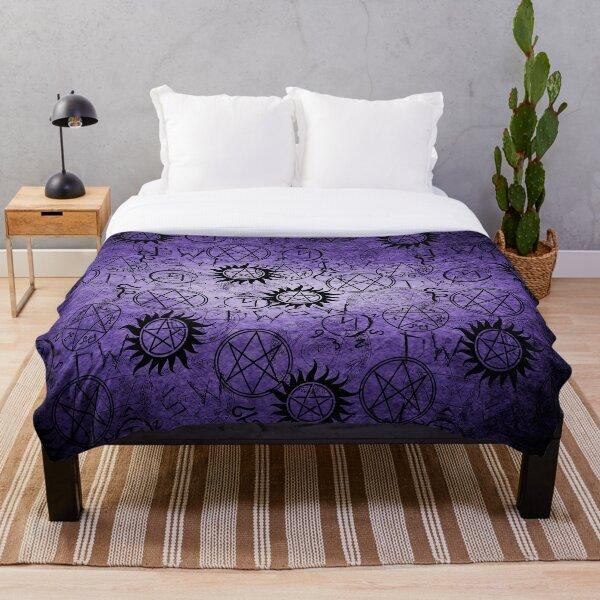 Supernatural Purple Throw Blanket