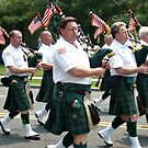 Parade: Emerald Society Bagpipe Band by Jane Neill-Hancock