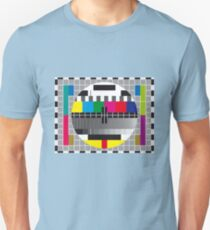 TV transmission test card Slim Fit T-Shirt