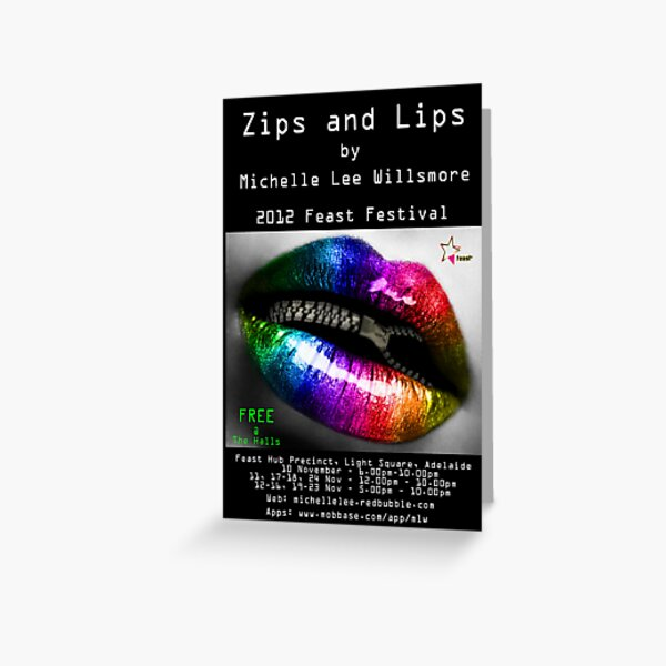 """""""Zips and Lips Flyer"""" Greeting Card"""