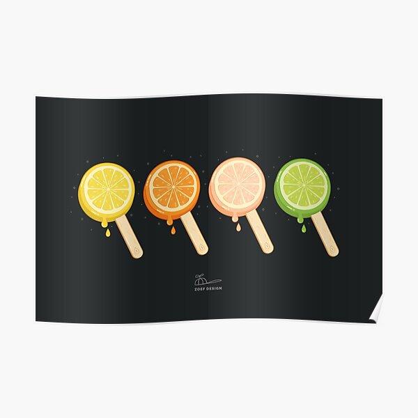 summer night popsicle - icecream Poster