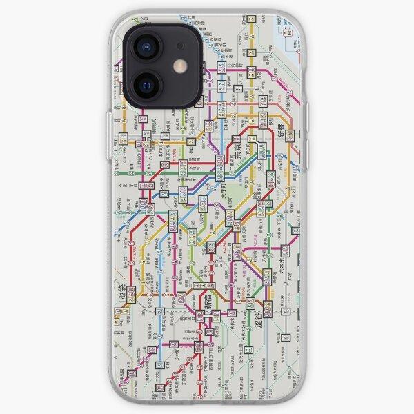 Metro de Tokio Funda blanda para iPhone
