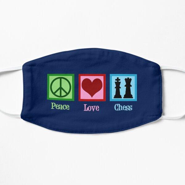 Peace Love Chess Flat Mask