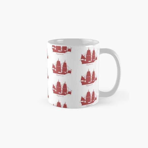 The Mayflower 1620 on red 2 Classic Mug