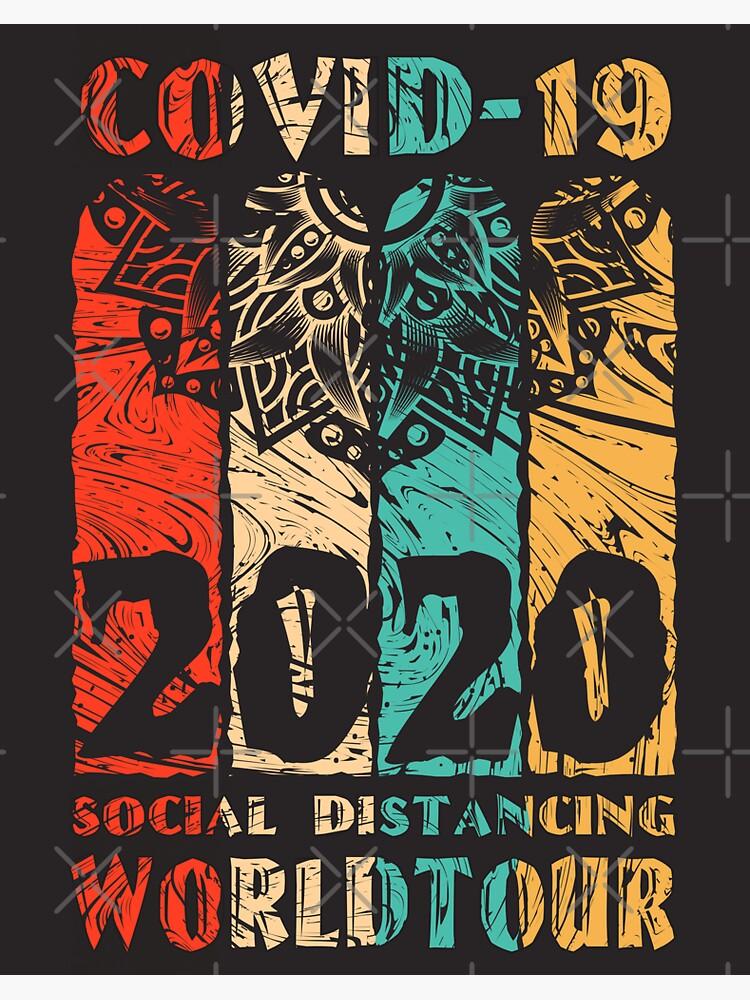 Covid-19 Social Distancing WorldTour - brainbubbles von brainbubbles